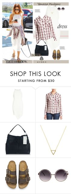 """Get The Look - Vanessa Hudgens"" by svijetlana ❤ liked on Polyvore featuring River Island, Rails, Wanderlust + Co, Birkenstock, Quay, vintage, GetTheLook, dress, polyvoreeditorial and avber"