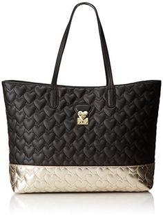 1be65091d8ee Betsey Johnson Be Mine Again Tote Handbag in Black - http   www.