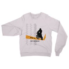 Motocross Orange and Black Heavy Blend Crew Neck Sweatshirt