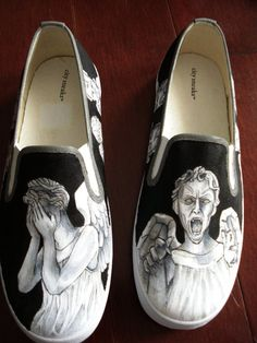 Weeping Angel shoes.