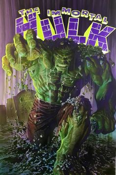 """browsethestacks: """"Comic - The Immortal Hulk (Alex Ross Cover) """" Beautiful. No one preserves Classic Marvel Art like Alex Ross Hulk Marvel, Ms Marvel, Marvel Comics, Hulk 1, Hulk Comic, Arte Dc Comics, Marvel Heroes, Marvel Characters, Red Hulk"""