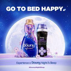 ....and wake up happy after a Downy Night Sleep.