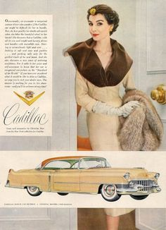 You are a LUCKY LADY!  The check list .... Nice House! Diamond Ring! Mink Stole! Cadillac! Check, check, check!  But now I want a BIGGER house, a BIGGER diamond a BIGGER Mink Coat!  ....Cadillac 1954 <3 mj