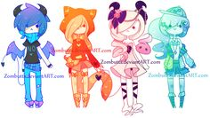 Adoptables Batch 12: CLOSED by Zombutts on DeviantArt