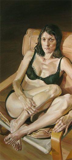 Stephen Wright - Portrait of Kem in a Black Bra