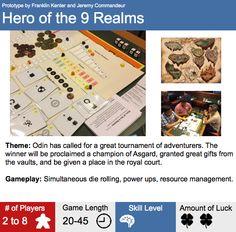 Hero of the 9 Realms Prototype Box Back
