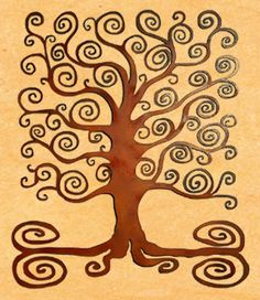 Square Tree of Life Metal Wall Plaque - Handmade in USA