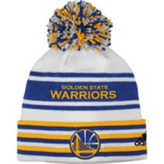 dc2c30a1a NBA Golden State Warriors Youth Cuffed Knit Striped Pom Beanie