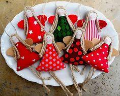 atelierik / Šťastné a ... Farebné, vianočné ozdoby na stromček ANJEL