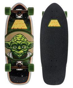 "Santa Cruz Star Wars Yoda Cruzer Complete Skateboard, Assorted, 28.5"" L x 10"" W Santa Cruz"