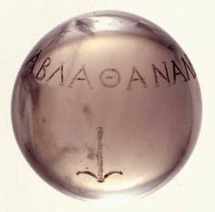 This beautiful crystal ball was found in the grave of a female in Demark from the end of the fourth century. A nice sample of graeco-roman imports to the Nordic tradition.