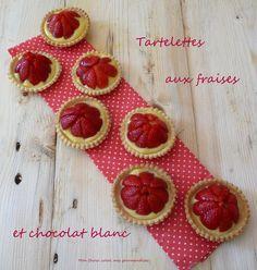 Tartelettes aux fraises et crème patissière au chocolat blanc