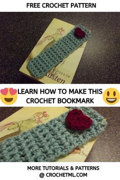 Here is another one of my original free patterns! My Sweetheart Bookmark is so easy to make and perfect for any beginner crocheters out there! Crochet Bookmark Pattern, Crochet Stitches Free, Crochet Bookmarks, Knit Or Crochet, Free Knitting, Free Crochet, Crochet Patterns, Book Markers, Pattern Library