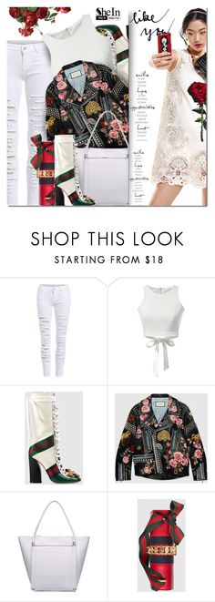 """""""Shein5"""" by barbarela11 ❤ liked on Polyvore featuring Gucci, Dolce&Gabbana, women's clothing, women's fashion, women, female, woman, misses, juniors and Winter"""