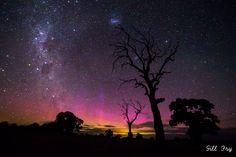 Lumières célestes dans la nuit du nouvel an