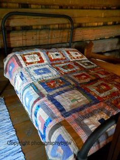 Vintage Iron Bed and Quilt by jwhanley, via Flickr