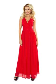 Stylist Chiffon Red Sleeveless V Neckline Maxi Dress E Cigarette, Red Evening Gowns, Chiffon Maxi Dress, Prom Dresses, Formal Dresses, Dance Outfits, Fashion Company, Designer Dresses, Spandex