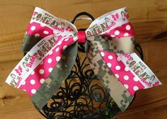Army Camouflage Cheer Bow by MegansHairCandy on Etsy, $8.00