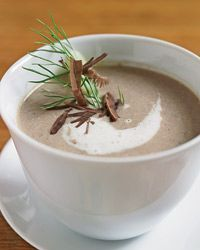 I'm obsessed with mushroom soups. This one is by a French chef, Michel Bras. Yummy in my tummy.