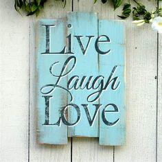 live laugh love wall decor aqua - Bing Images