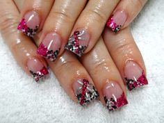 3d dragonfly.  Black and white dots from Sparkles Nail Products.