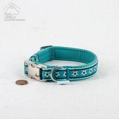 "Mini Leder Halsband ""Stars"" türkis  24,90€"