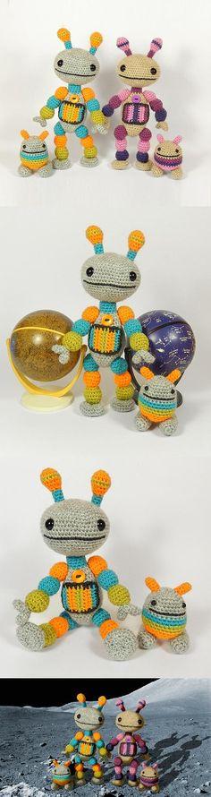 Nut and Bolt amigurumi pattern by Janine Holmes at Moji-Moji Design