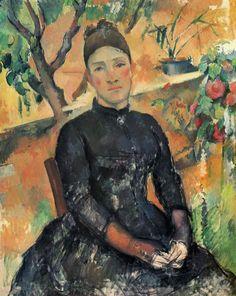 Madame Cezanne in the garden, ca. 1892 // Paul Cezanne