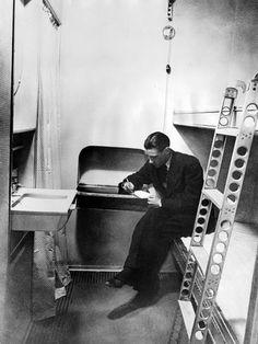 Stateroom on the Dirigible, Hindenburg