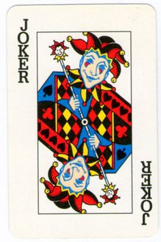 NICE SINGLE VINTAGE PLAYING CARDS JOKER - (Single Jokers card) #048