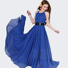 Hot Selling On Sale 2014 Plus Size Bohemian Beach Expansion Bottom Hem Maxi Long Chiffon Dress Women Off Shoulder Sexy Clothing