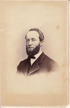 ITEM: Original Civil War Era CDV photo of a man with beard from Philadelphia, PA, circa 1860's. QUANTITY: 1 - See the other original old and unusual tintype, CDV, and Cabinet photos that I have listed. | eBay!