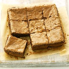 Peanut Butter Blondies: Peanut butter lovers, this sweet treat is for you. You'll get a double dose of nutty flavor thanks to rich and creamy peanut butter and the chopped-peanut topping. Plus, one serving provides 6 grams of protein, which makes this a filling, satisfying dessert. | Health.com