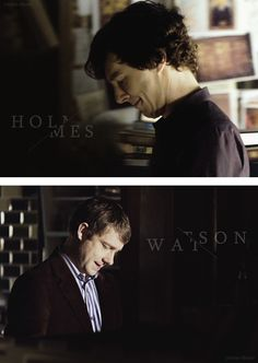 """Holmes & Watson. """"Just the two of us against the rest of the world."""""""