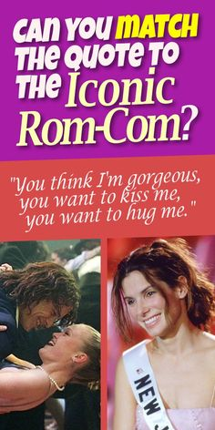 QUIZ: Can you match the quote to the iconic Rom-Com? *** #PlaybuzzQuiz General Knowledge Quiz Movie Trivia Questions Best Romantic Comedies Quotes Meg Ryan Bridget Jones Sandra Bullock Love Dating Relationship Playbuzz Quiz Movie Trivia Questions, Best Romantic Comedies, Knowledge Quiz, Dating Relationship, Meg Ryan, Bridget Jones, Movie Facts, Love Dating, Playbuzz