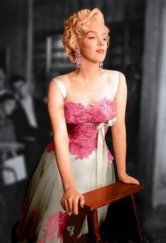 "So beautiful....visiting Marlon Brando on the set of ""Desiree""..."