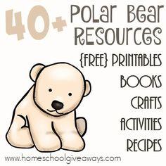 Free Polar Bear Printables Resources