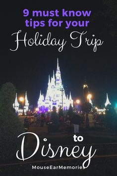Planning A Disney World Trip this Holiday Season? Don't miss out on these 9 important tips for your trip to help with planning your magical adventure. Disney World Christmas, Mickey Christmas, Disney World Tips And Tricks, Disney Tips, Disney Ideas, Disney Fun, Holiday Travel, Holiday Trip, Family Holiday