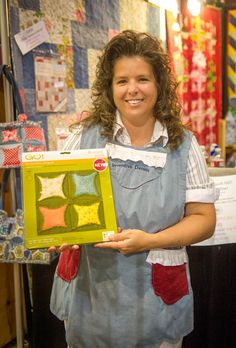 Me with my brand new die by Accuquilt! Heather Banks @ Inventive Denim