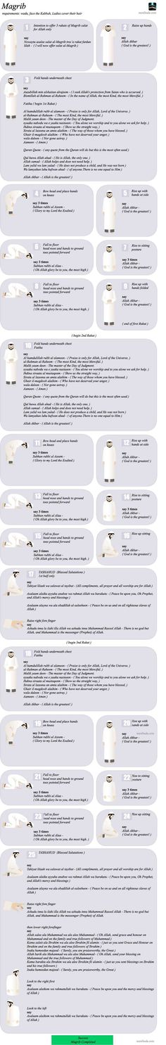 Maghrib Namaz (Salat) in details. http://www.islamic-web.com/namaz-salat/how-to-offer-salat/
