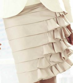 Art Fashion: DIY ruffled skirt