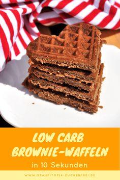 Low Carb Brownie Waffeln