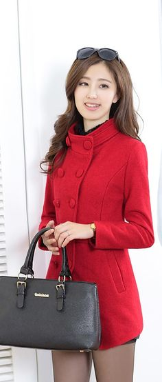 Stylish Winter Cashmere Coat YRB0591 £36.00 #redjacket