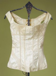 Lady's Cotton Corded Corset, 1800-1825 Session 2 - Lot 578