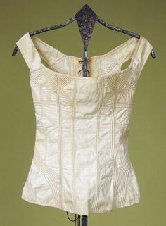Lady's Cotton Corded Corset, 1800-1825 Session 2 - Lot 578