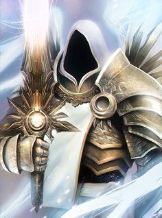 hip-hots: Tyrael by JacopoSchiavo Dark Fantasy Art, Fantasy Books, Fantasy Artwork, Fantasy Characters, Naruto Characters, Dragon Knight, Knight Art, Fantasy Character Design, Character Art
