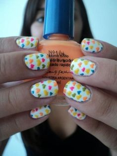 Love the hearts but would probably only do this on 1 nail