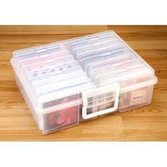 Iris x Photo and Craft Storage Box Set - Clear Craft Storage Box, Plastic Storage Totes, Fabric Storage Bins, Fabric Boxes, Toy Storage, Storage Boxes, Storage Baskets, Storage Organization, Organizing