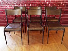 Why Furniture So Expensive Key: 1898163952 Industrial Dining Chairs, Vintage Industrial Furniture, Furniture Ads, French Furniture, Table Seating, Dining Table, French Industrial, French Table, Table Height