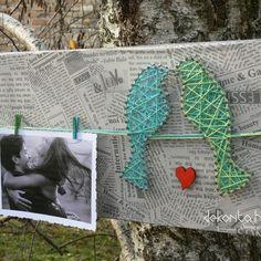 Birds on wire string art